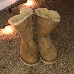 Beige Ankle Ugg Boots